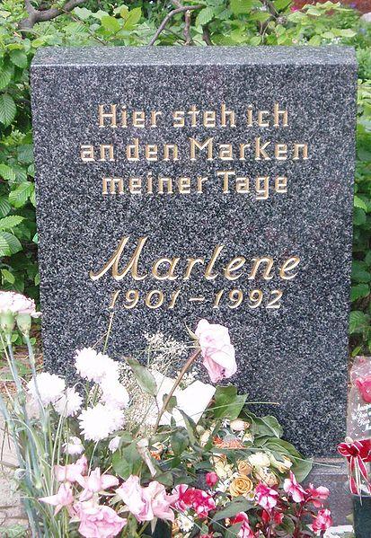 Grab Marlene Dietrich auf dem Städtischen Friedhof Schöneberg III